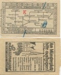Ulmer Straßenbahnkarte vor 1944