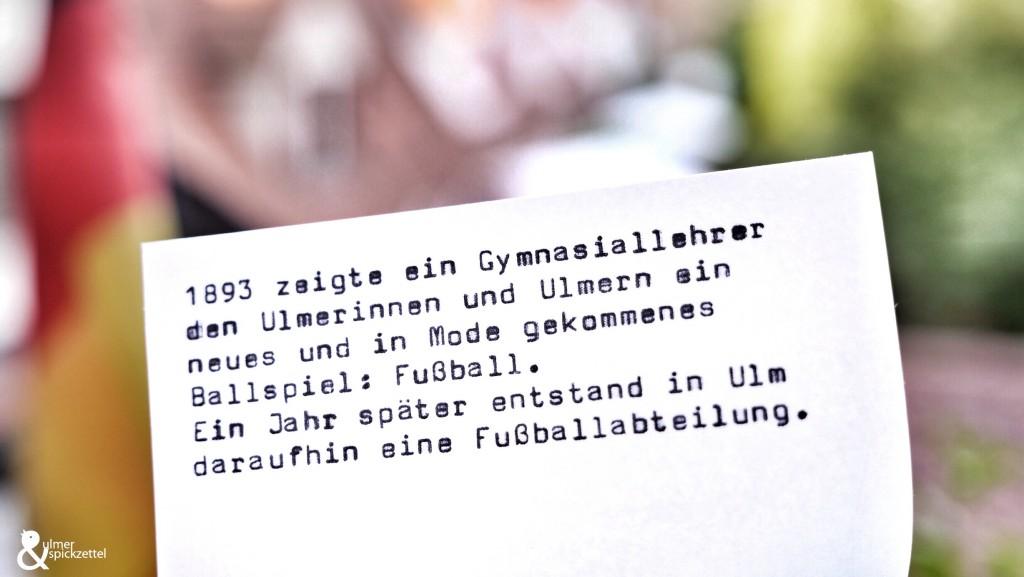 Wie der Fußball nach Ulm kam …