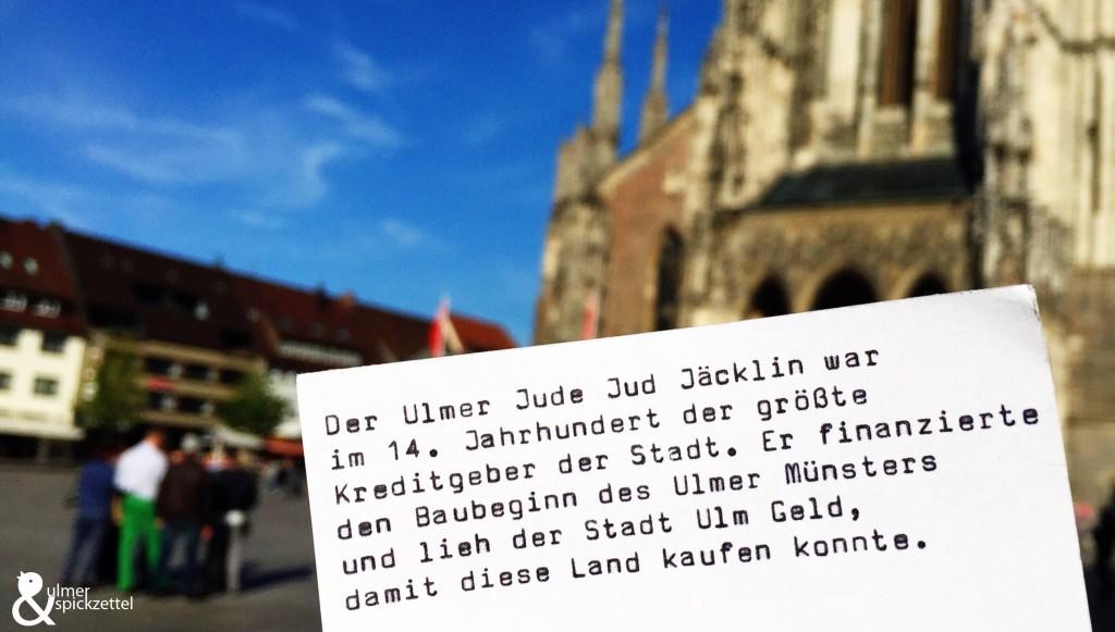 Ein Jude finanzierte das Ulmer Münster