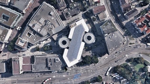 Ulm von oben: Welches Gebäude ist das?