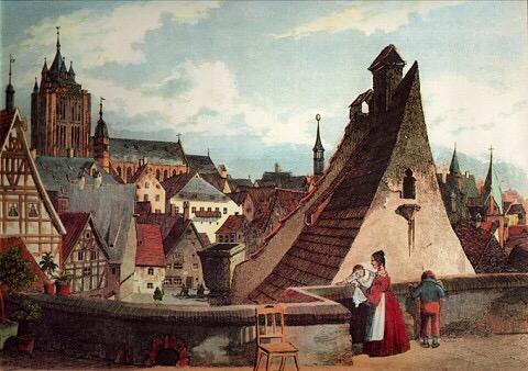 So sah wohl ein Sonntagsspaziergang in Ulm früher aus
