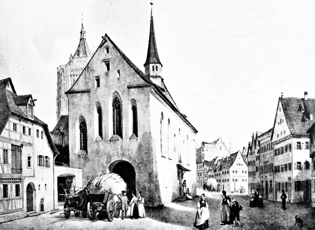 Das Barfüßerkloster auf dem Münsterplatz