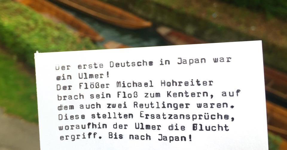 Der erste Deutsche in Japan war ein Ulmer!