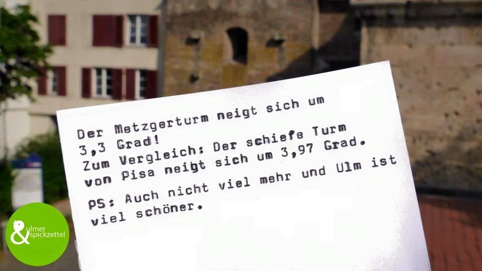 Der schiefe Turm von Ulm!