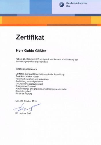 Zertifikat Handwerkskammer_2015