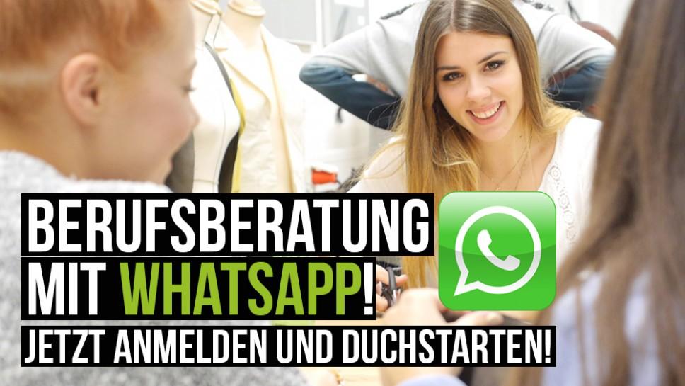 Berufsberatung mit WhatsApp!