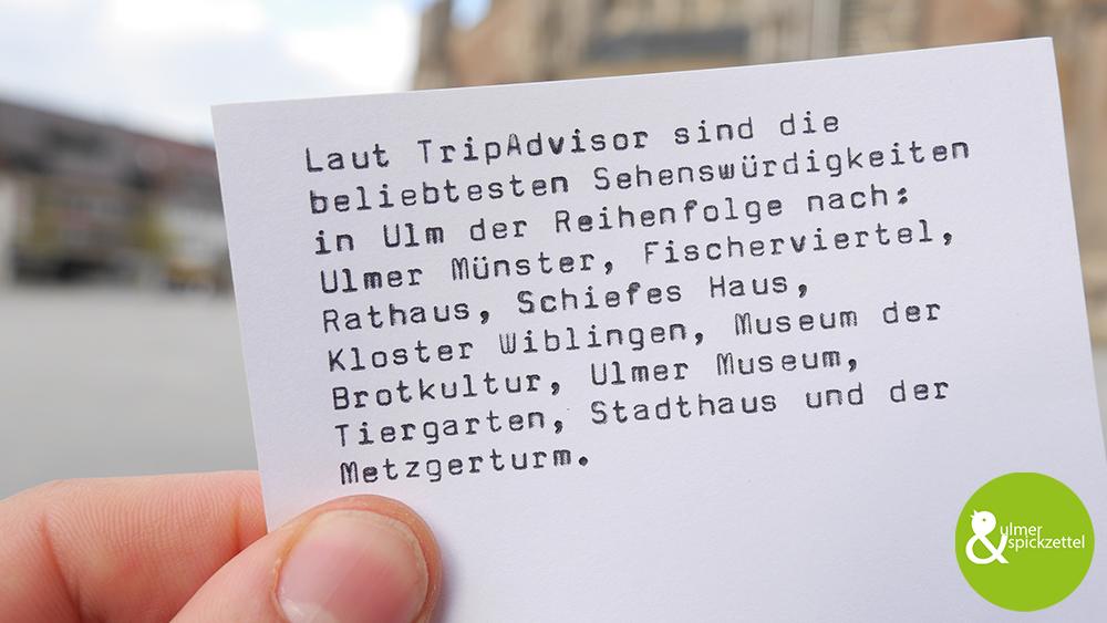 Die 10 beliebtesten Locations in Ulm!