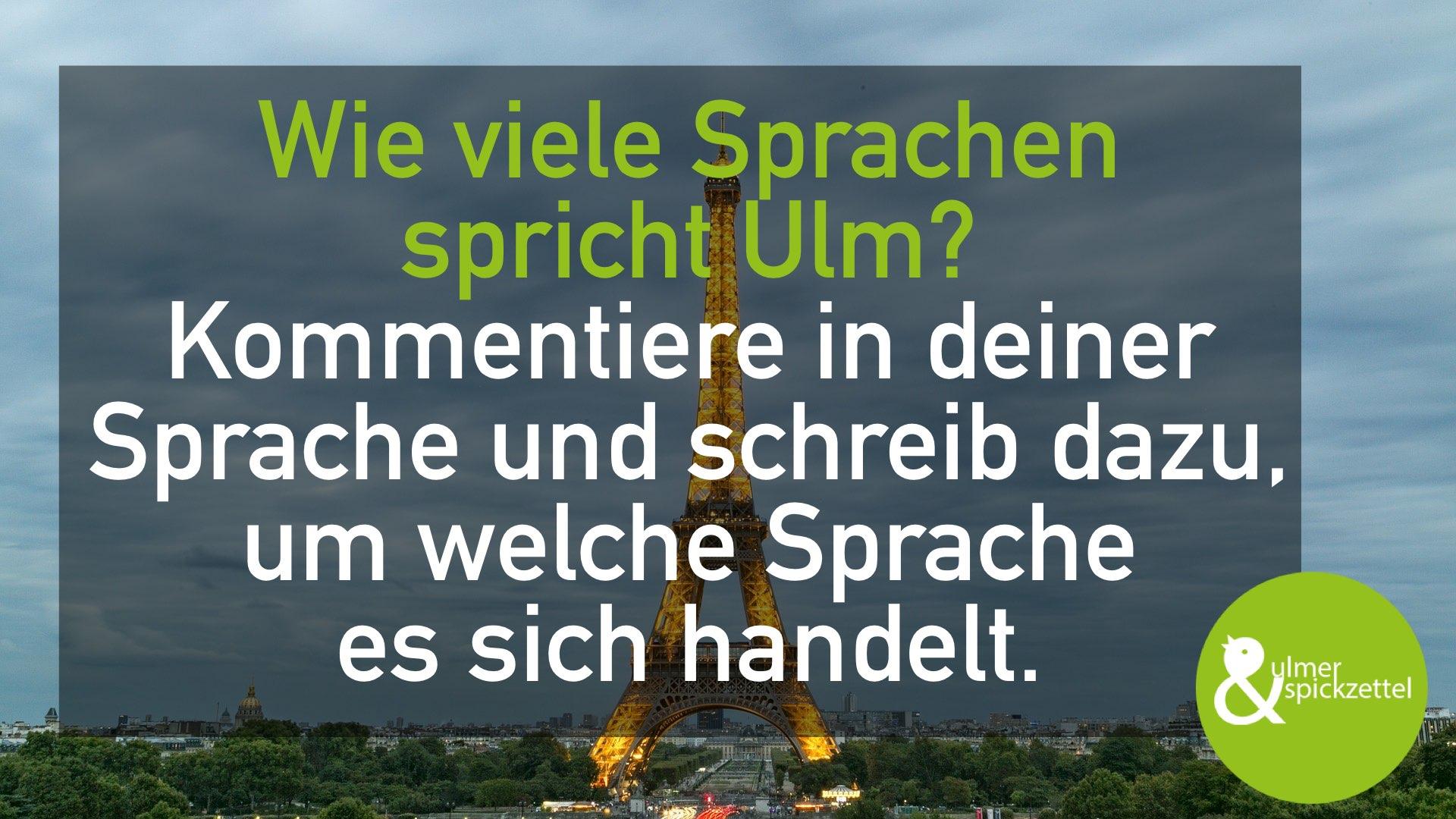 Wie viele Sprachen spricht Ulm?