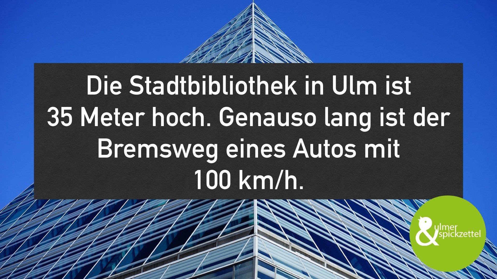 Ganze 35 Meter bei 100 km/h!