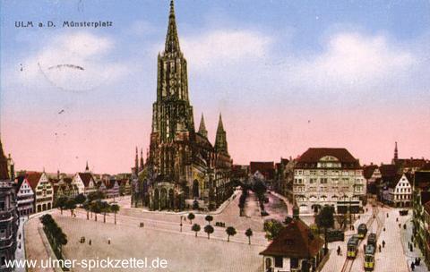 Der Münsterplatz im Jahr 1926