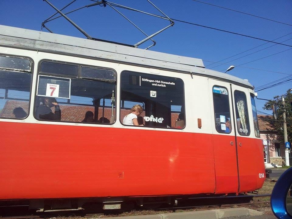Alte Ulmer Straßenbahnen in Rumänien