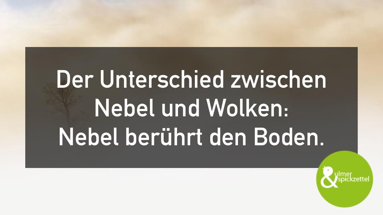 Danke Nebel: Die (Neu-)Ulmer wachen von Oktober bis Mai in Wolken auf!