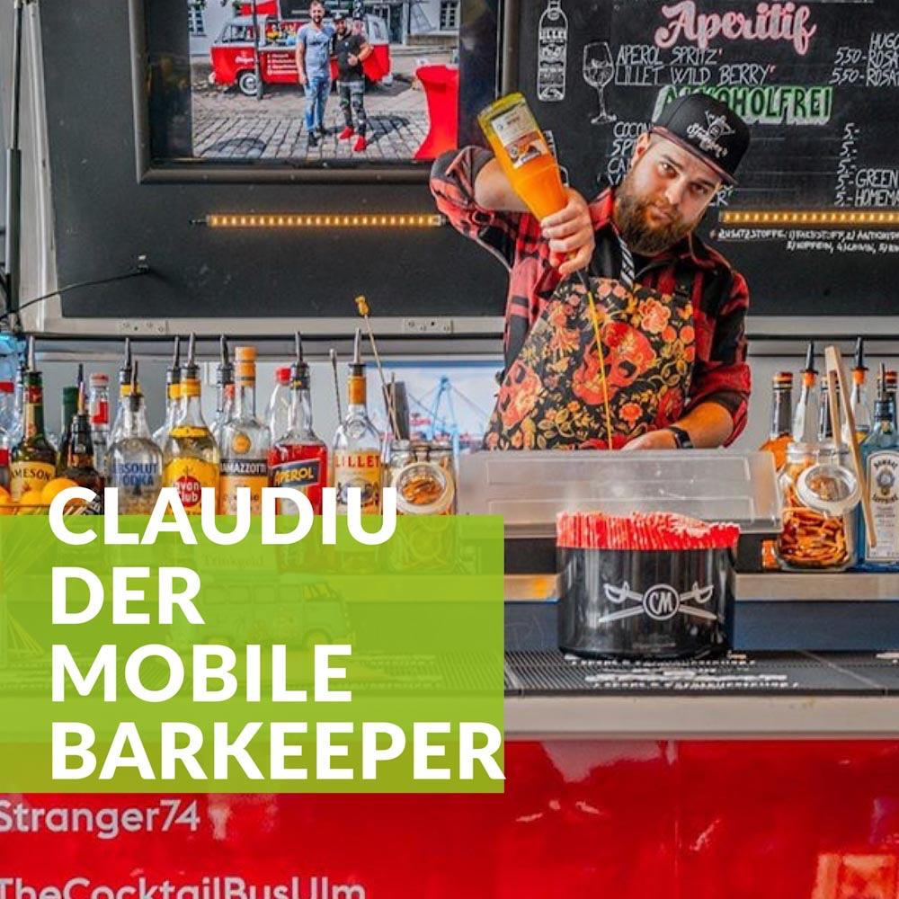 Claudiu: der mobile Barkeeper