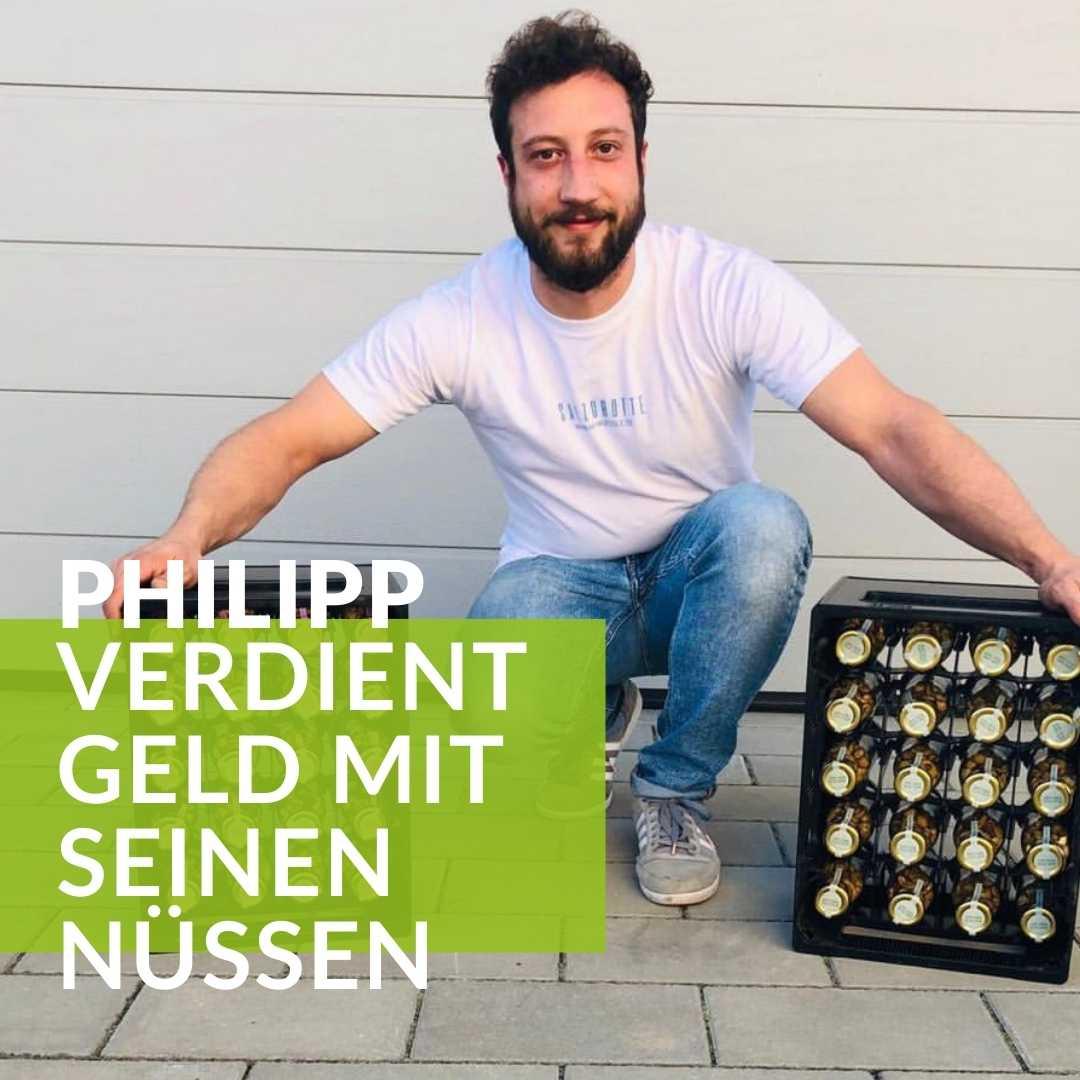 Philipp verdient Geld mit seinen Nüssen